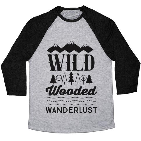 Wild Wooded Wanderlust Baseball Tee