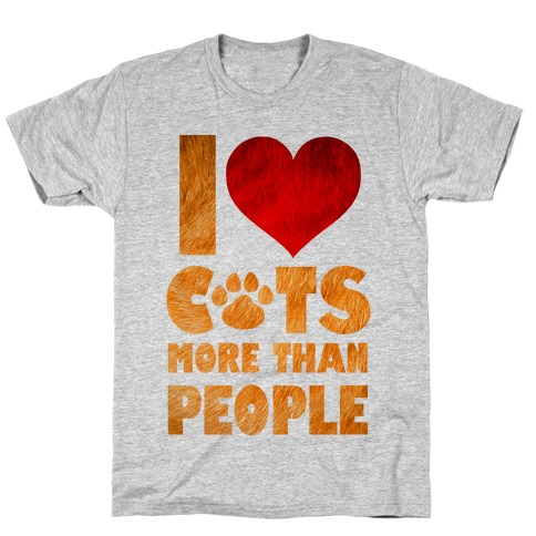 I Heart Cats More Than People T-Shirt