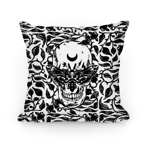 Skull Moth Pillow