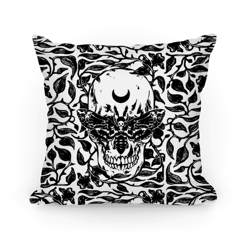 Skull Moth Pillow