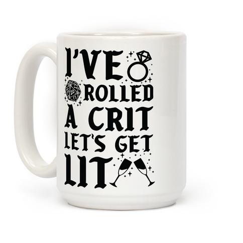 I've Rolled a Crit Let's Get Lit Wedding Coffee Mug