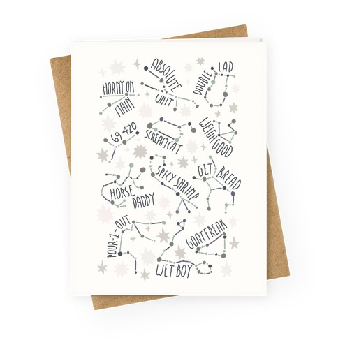 Asstrology Constellations Greeting Card