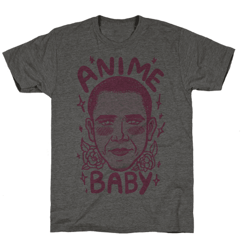 Anime Baby Obama Mens T-Shirt