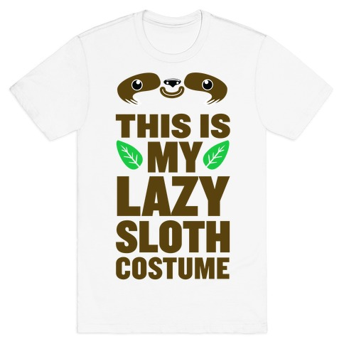 Lazy Sloth Costume T-Shirt
