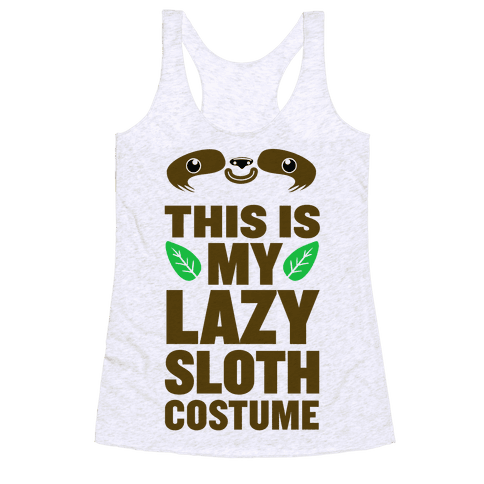Lazy Sloth Costume Racerback Tank Top