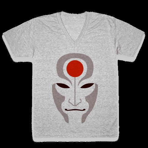 Amon Mask (Fadeaway) V-Neck Tee Shirt