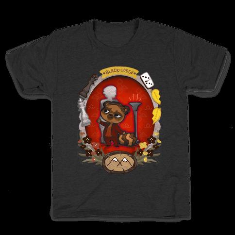 Black Lodge Racoon Kids T-Shirt