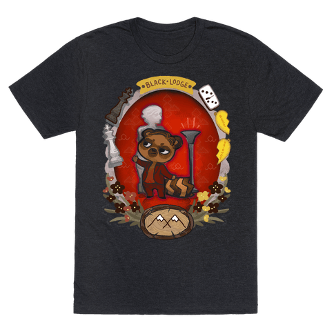 Black Lodge Racoon Mens T-Shirt