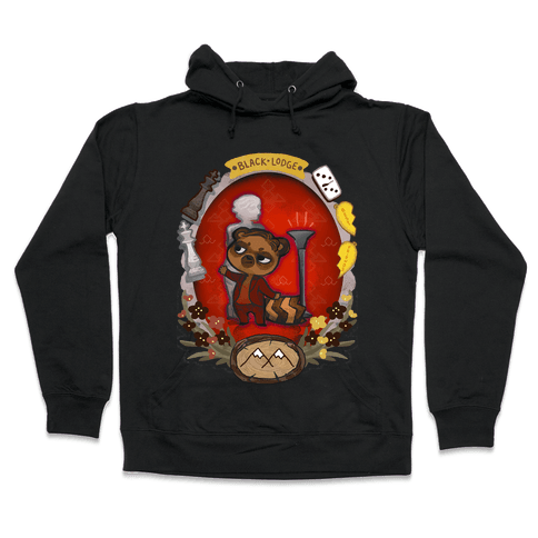 Black Lodge Racoon Hooded Sweatshirt