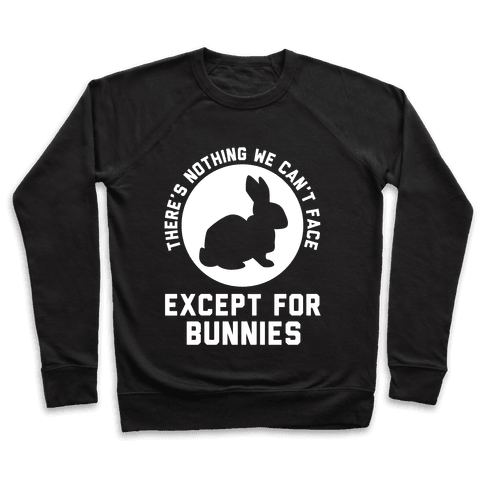 There's Nothing We Can't Face Except For Bunnies Pullover