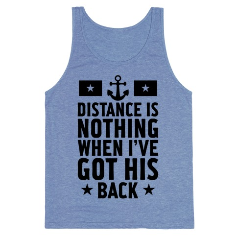 I've Got His Back (Navy) Tank Top