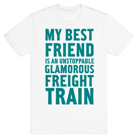 Glamorous Freight Train Mens T-Shirt
