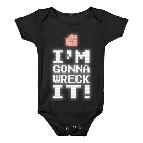Wreck It! Retro Gaming Baby Onesy