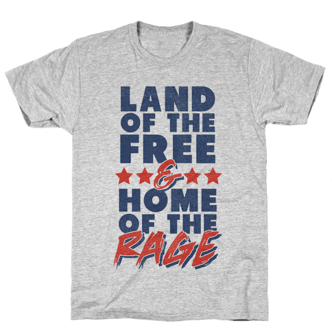 Land of the Free Home of The Brave Mens T-Shirt