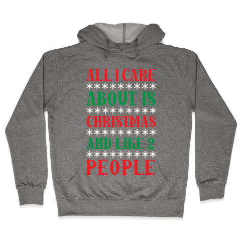 All I care About Christmas And Like 2 People Hooded Sweatshirt
