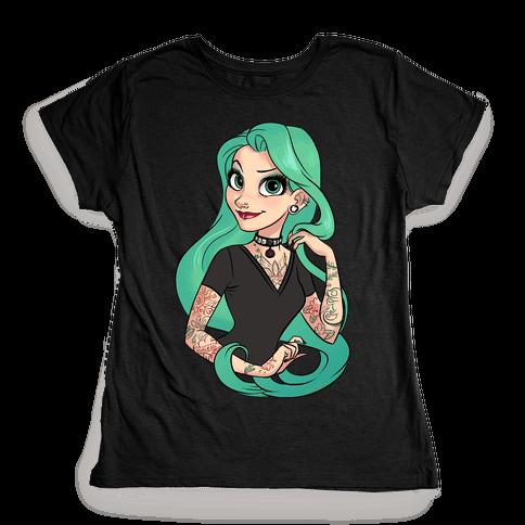 Punk Rapunzel Womens T-Shirt