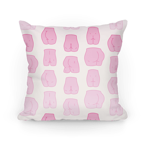 Pink Pastel Butt Pattern Pillow