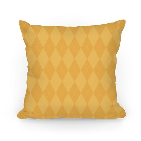 Gold Argyle Pillow