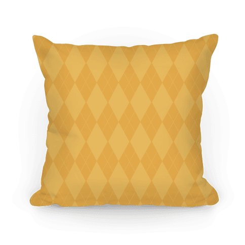 Gold Argyle Pillow