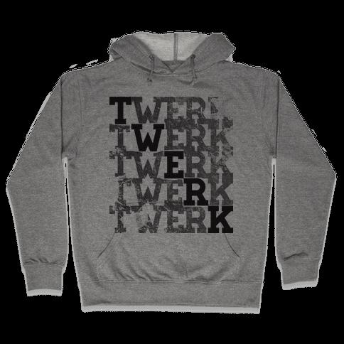 Twerk Square Glo Hooded Sweatshirt