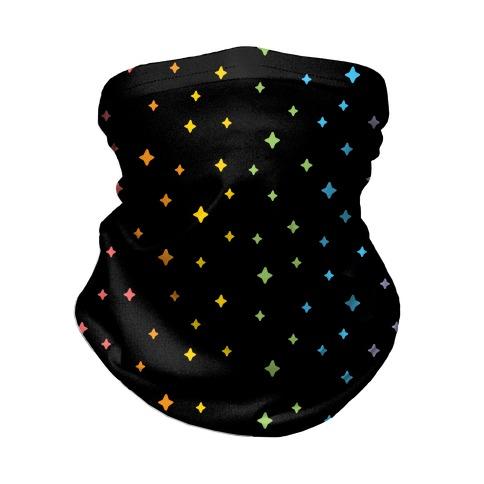 Rainbow Sparkles Neck Gaiter