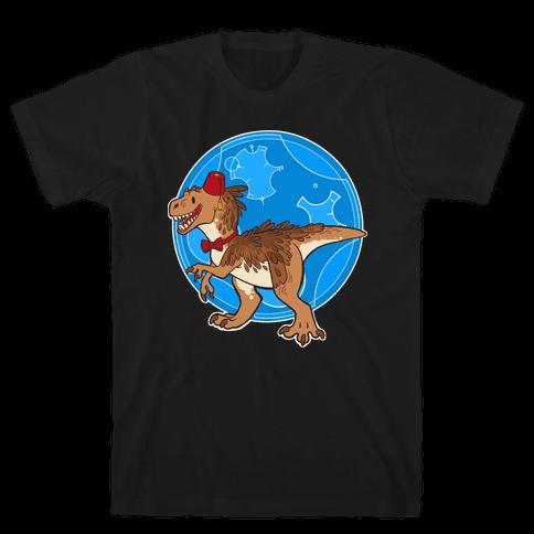 Dinosaur Doctor Who Mens T-Shirt