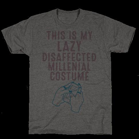 Lazy Millenial Costume Mens T-Shirt