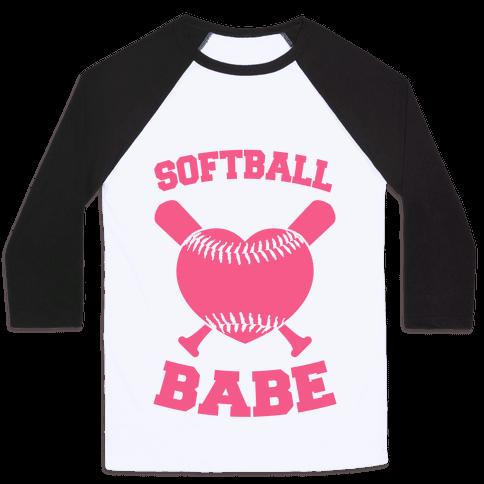 Softball Babe (pink) Baseball Tee
