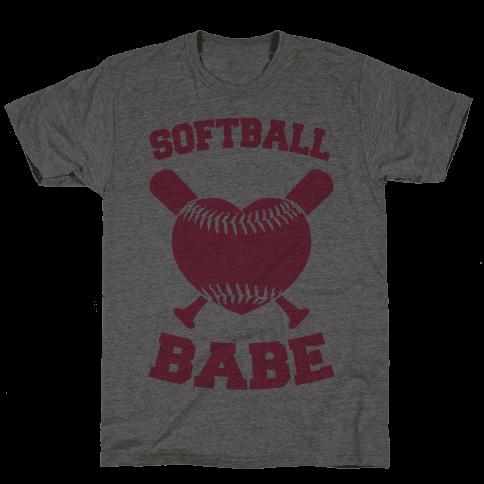 Softball Babe (pink) Mens T-Shirt