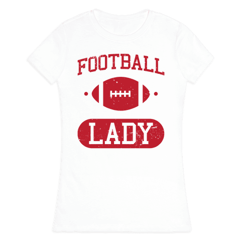 Football Lady Womens T-Shirt