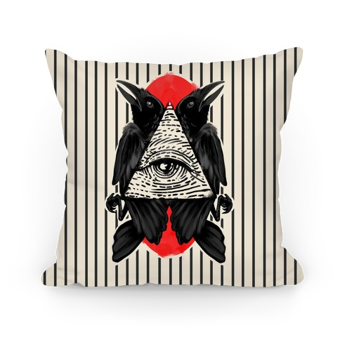 Crows Illuminati Pillow