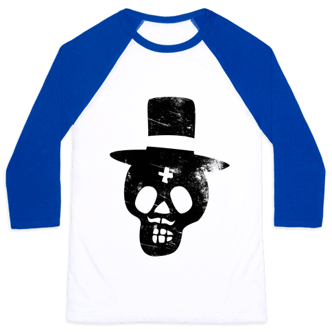 Sugar Skull Groom Baseball Tee