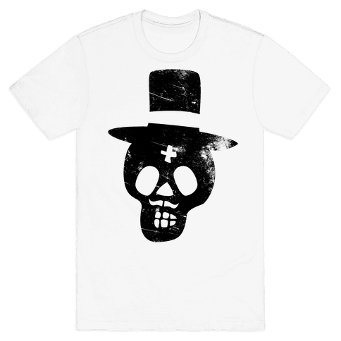 Sugar Skull Groom Mens T-Shirt