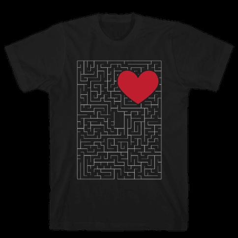 Maze to my heart Mens T-Shirt