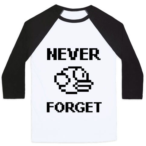 Never Forget (Flappy Bird) Baseball Tee