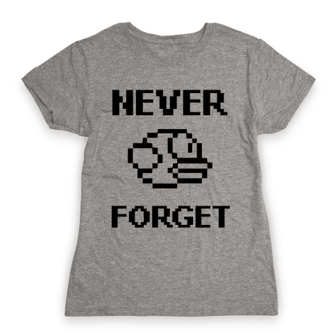 Never Forget (Flappy Bird) Womens T-Shirt