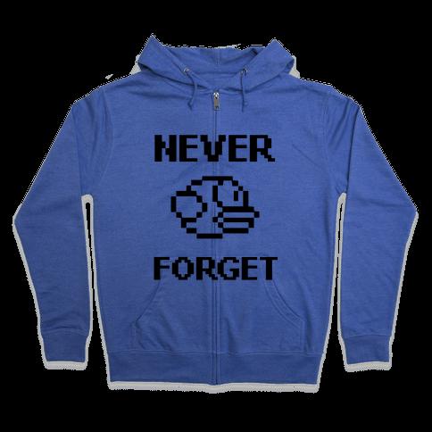 Never Forget (Flappy Bird) Zip Hoodie