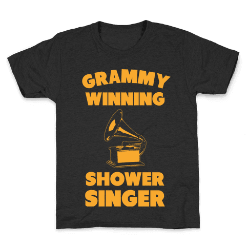 Grammy Winning Shower Singer Kids T-Shirt
