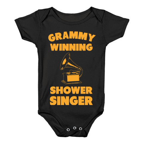 Grammy Winning Shower Singer Baby Onesy