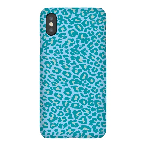Blue Leopard Print Case Phone Case
