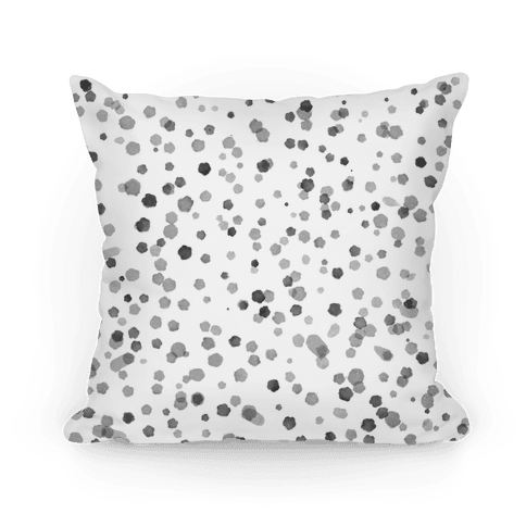 Gray Polka Dot Watercolor Pattern
