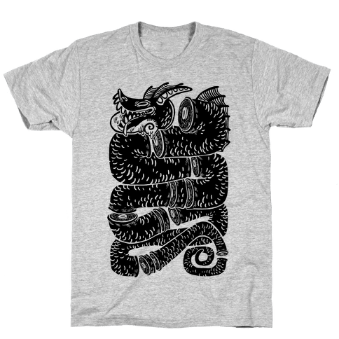 Sea Serpent Sections Mens T-Shirt