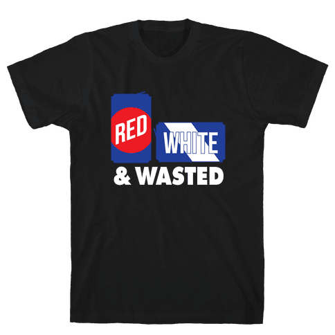 Red, White & Wasted Mens T-Shirt