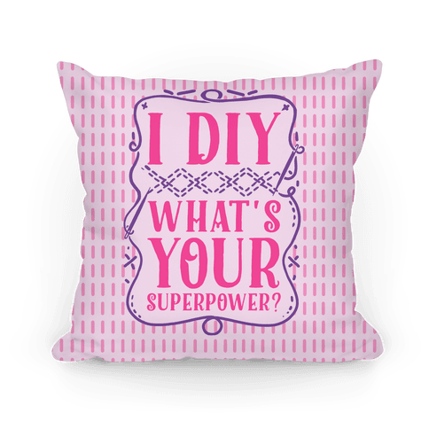 I DIY What's Your Superpower? Pillow