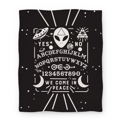 Occult Alien Ouija Board Blanket