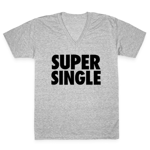 Super Single V-Neck Tee Shirt