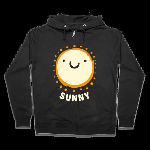 Sun & Grumpy Cloud (Part 2) Zip Hoodie
