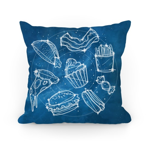 Junk Food Constellation Map Pillow