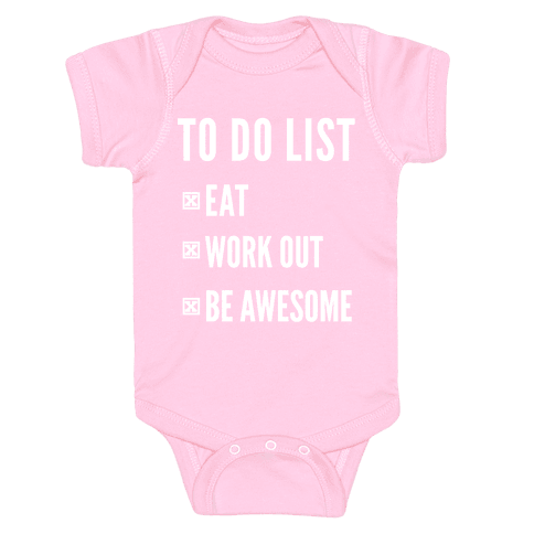 To Do List Baby Onesy