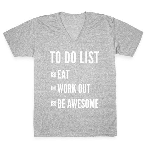 To Do List V-Neck Tee Shirt